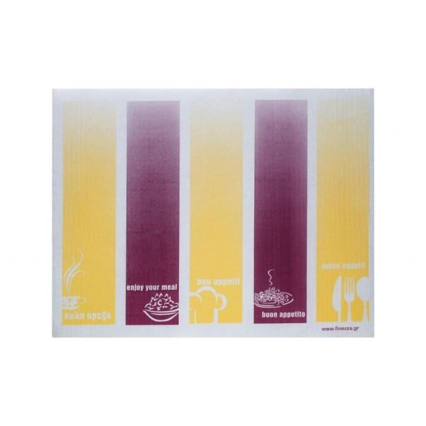 finezza Placemats Matis Cream-Bordeaux 30X40 100PCS ΣΟ-ΤΥ-43 8003885304029
