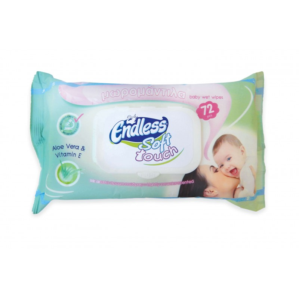 Endless Baby Wipes Aloe Vera With Protective Cap 72Pcs 2999080203 5202995202536