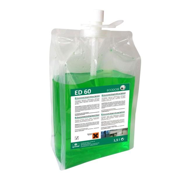 quimxel ED60 Υπέρ-Συμπυκνωμένο Απολυμαντικό Γενικής Χρήσης 1.5LT ED-60 8428446481139