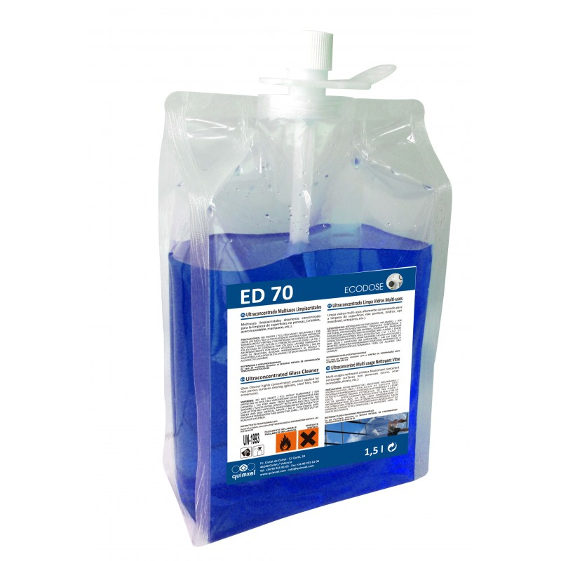 quimxel ED70 Ultraconcentrated Glass Cleaner 1.5Lt ED-70 8428446481146