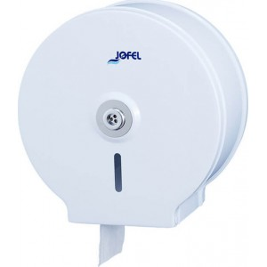 JOFEL Mini Jumbo Toilet Paper Dispenser Metallic White AE12400 8427950300592
