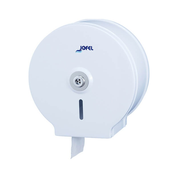 JOFEL Mini Jumbo Toilet Paper Dispenser Metallic White AE12400 8427950300592