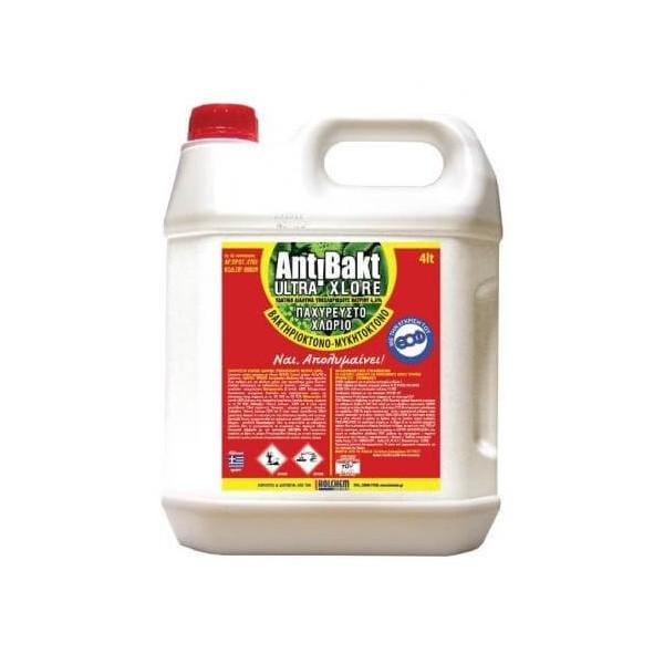 HOLCHEM CHEMICALS Antibakt Ultra Xlore Παχύρευστο Απολυμαντικό Χλώριο 4LT HOL-99105-0004 5204114730043