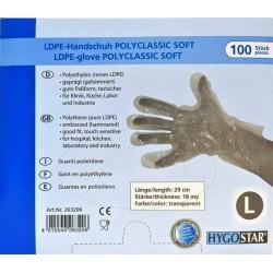 OEM Gloves Disposable LDPE Transparent 100PCS Medium 12-00-034 4015544263602