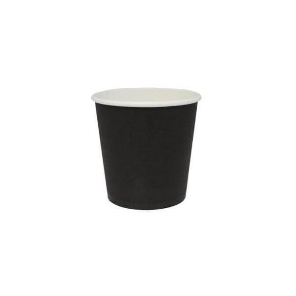 INTERTAN Paper Cups 4OZ Black 50PCS 000648 0150210010