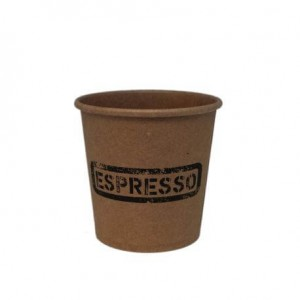 Dimexsa Paper Cups 4OZ Craft Espresso 50PCS 0530001-13 0150210011