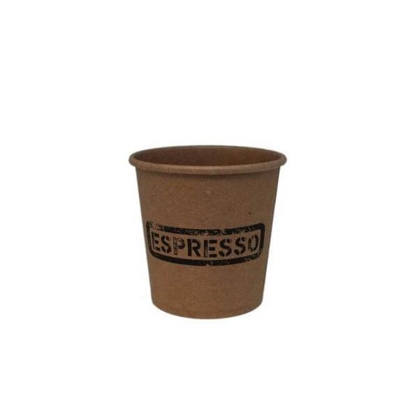 Dimexsa Paper Cups 4OZ Craft Espresso 50PCS 0530001-13 0150210011