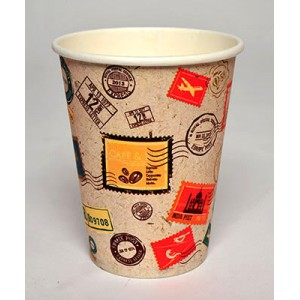 INTERTAN Paper Cups 8OZ Stamp 50PCS Q531002S 5206970003651