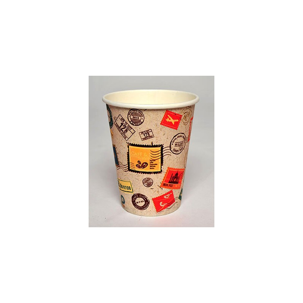 INTERTAN Paper Cups 8OZ Stamp 50PCS Q531002S 5206970003651