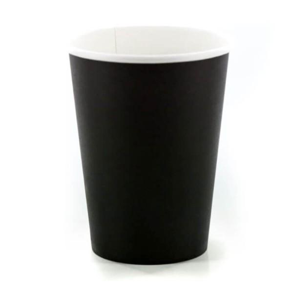 INTERTAN Paper Cups 8OZ Black 50PCS Q531002M 0150210015