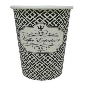 Dimexsa Paper Cups 8OZ Black Coffee Experience 50PCS 0530039 0150210016