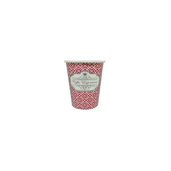 Dimexsa Paper Cups 8OZ Red Coffee Experience 50PCS 0530039 ΚΟΚΚΙΝΟ 0150210017