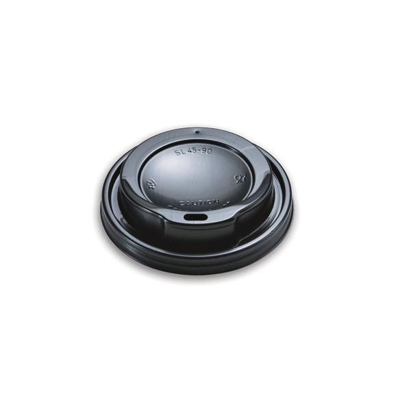 Dimexsa Plastic Cip Lids For 4OZ Cups Black 100PCS 00753-1 0150210024
