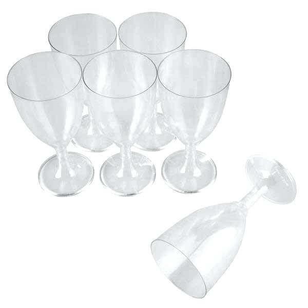 OEM Plastic Clear Wine Glass 10PCS 01-01-148 5205408007193