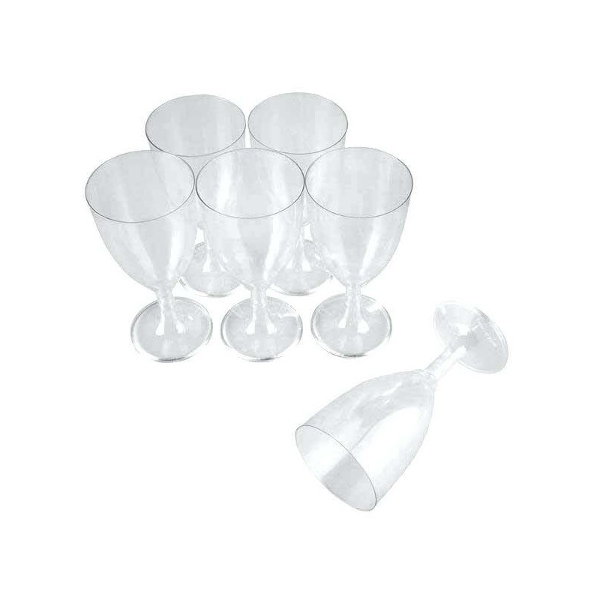 OEM Πλαστικό Ποτήρι Κρυστάλ Κρασιού 10ΤΕΜ 01-01-148 5205408007193