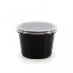 Θαλασσινός Bowl Sauce Black With Lids 100ML 50PCS ΕΜ.6762 0150540009