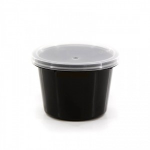 Θαλασσινός Bowl Sauce Black With Lids 100ML 50PCS ΕΜ.6762 0150540009