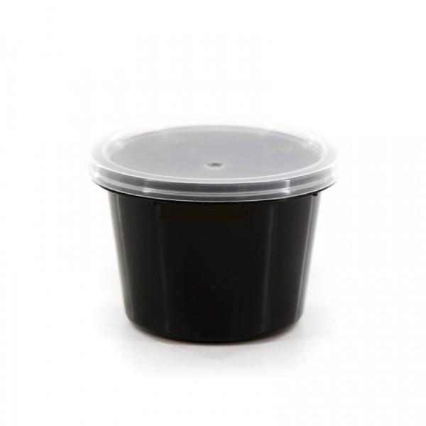 Θαλασσινός Μπωλ Sauce Μαύρο Με Καπάκι Σετ 100ML 50TEM ΕΜ.6762 0150540009