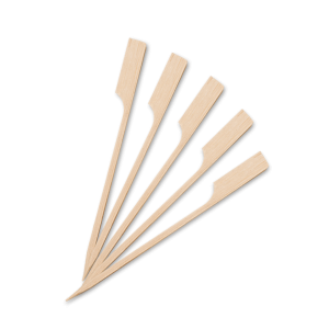 OEM Bamboo Paddle Picks 12CM 100PCS 0060032 6930755144312